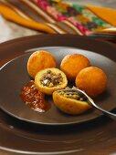 Papas Rellenas (potato dumplings filled with meat and egg, Peru)