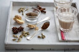 Chai tea and various spices