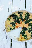 Salmon tart with spinach (Denmark)
