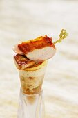 Partridge with goose liver and six-rowed barley