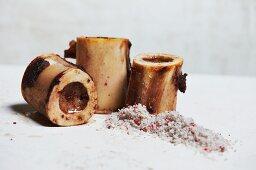 Roasted Beef Marrow Bones with Sea Salt