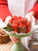 A Christmas present cake
