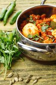 Egg curry with coriander