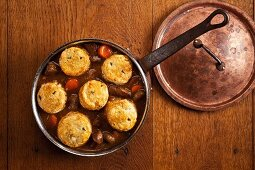 Welsh beef ragout with rosemary biscuits