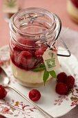 Raspberry Marijuana Cheesecakes in Mason Jars