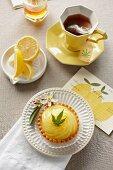 Individual Lemon Pie Infused with with Marijuana; Cup of Marijuana Tea