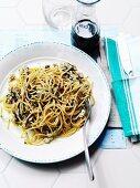 Bigoli al radicchio (pasta with radicchio, Italy)