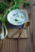 Broccoli soup with celery