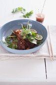 Beef with coriander (Thailand)