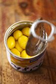 Ginkgo nuts in a tin