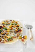 Butternut squash and blue cheese pizza