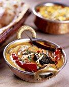 Baingan Mirchi Ka Salaan (aubergine and chilli curry, India)