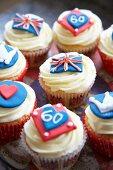 Various Jubilee cupcakes (England)