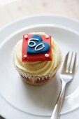 A Jubilee cupcake (England)