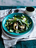 Warm squid salad with mint and chillies