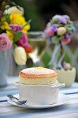 Lemon souffle for Easter