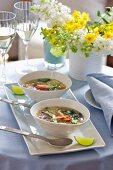 Thai egg fluff soup for Easter