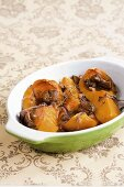 Butternut squash with chestnuts, straight from the oven