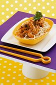 Noodles with chicken, lemon grass and passion fruit