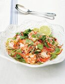 Prawn salad with glass noodles