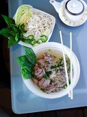 Thai Soup with Pork, Scallion and Glass Noodles