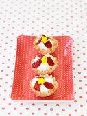 Mini Fruit Tarts with Strawberries and Stars