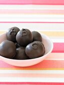 Chocolate Covered Ice Cream Balls
