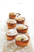 Almond and blueberry cakes