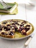 Beetroot and spinach quiche