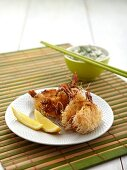 Prawns in kataifi pastry with dip