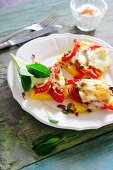 Gratinated polenta slices