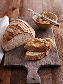 Half a loaf of Berliner Landbrot, a mild rye bread