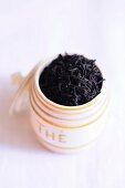 Bowl of Lapsang Souchong Loose Tea Leaves