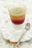 Cream with fruit puree