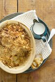 Pear crumble with macadamia nuts
