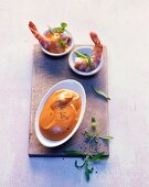 Cocktail sauce with prawns and tarragon