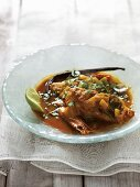 Fish stew with vanilla and turmeric