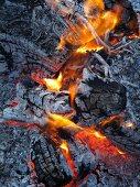 A blazing fire