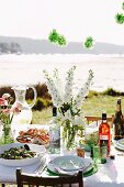 A party table outdoors