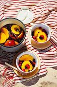 Poached fruits