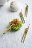 Green tea wagashi