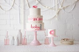 Little Girl Baby Shower Cake