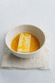 Tofu in egg coating