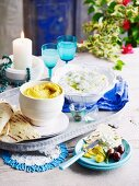 Tzatziki and pea dip for Easter (Greece)