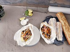 Seafood in parchment paper