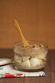 Tofu cream with apple