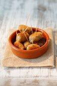 Croquetas de jamon (Schinkenkroketten, Spanien)