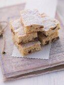 Almond and raisin slices