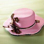 A hat-shaped cake