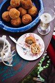 Arancini (deep-fried stuffed rice balls, Sicily)